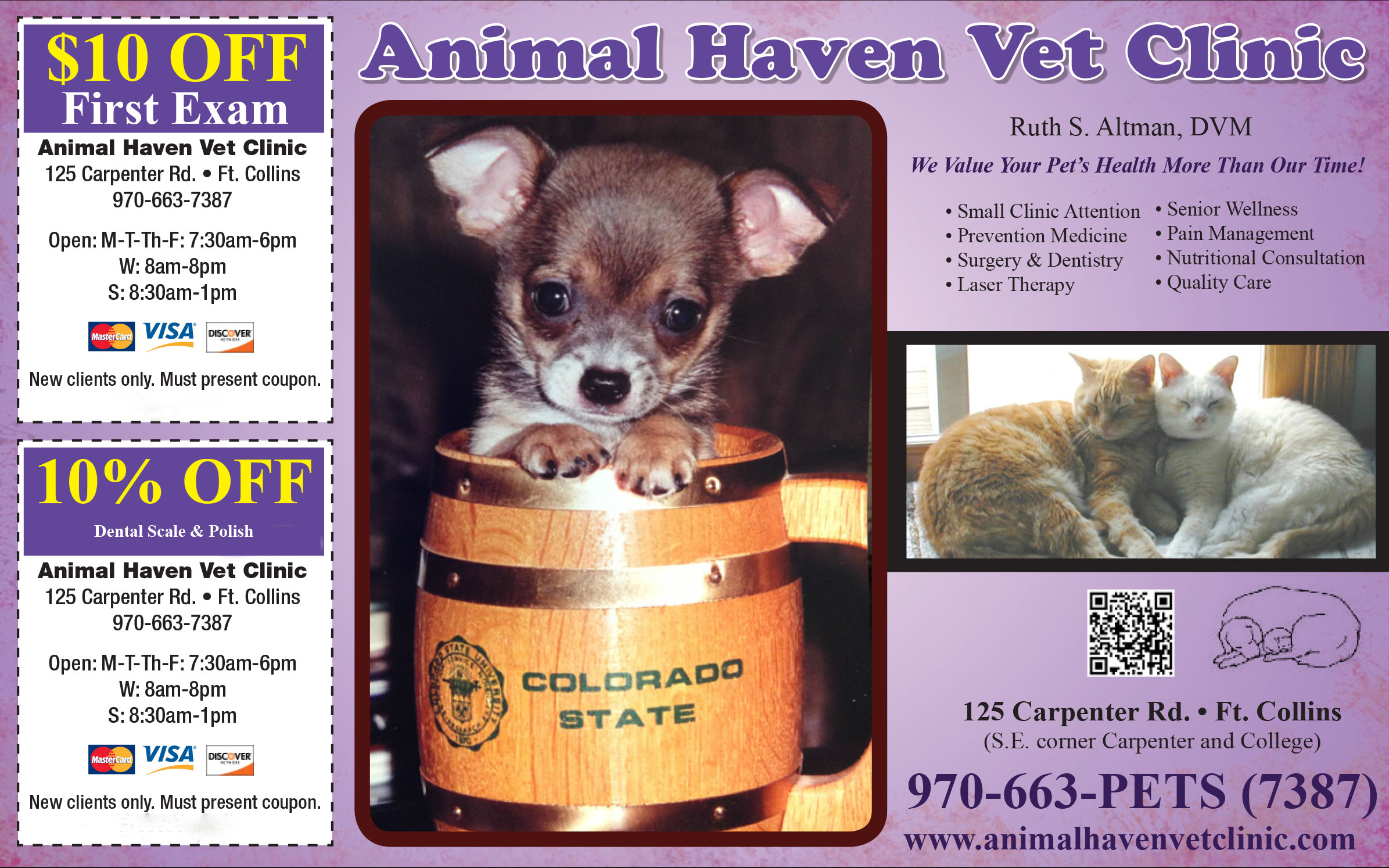 Animal Haven Vet Clinic new client coupon